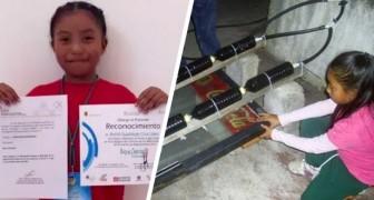 Mit 8 Jahren erfindet sie einen solaren Warmwasserbereiter für alle armen Familien, die sich keinen Boiler kaufen können
