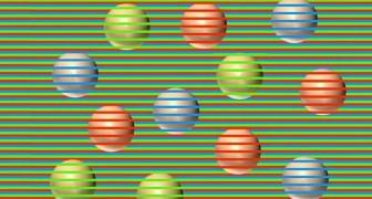Gekleurde ballen of niet? Een merkwaardig optisch fenomeen laat ze anders zien dan ze zijn