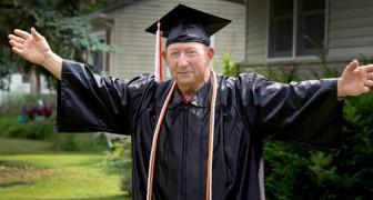 A 87 anni riceve il diploma di scuola superiore che non aveva potuto conseguire prima: Mi ero quasi arreso