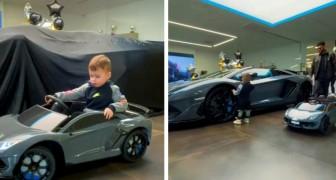 Rapper schenkt seinem 2-jährigen Sohn einen Spielzeug-Lamborghini und einen echten 100.000 Pfund teuren: Er muss für seine Fahrprüfung üben