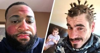 18 papas qui ont laissé leurs filles les maquiller et les coiffer avec des résultats hilarants