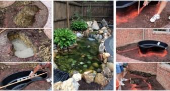 Installa un laghetto nel giardino di casa in mezza giornata: scopri come
