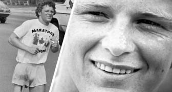 Terry Fox, il giovane malato di cancro che provò ad attraversare il Canada con una gamba sola