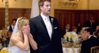 Det här brudparet får en oväntad överraskning som får dem att skrika av lycka!