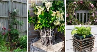 Decora il giardino con tante creazioni fantasiose realizzate con rami e ramoscelli