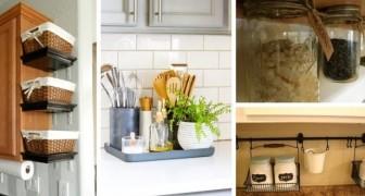 Sgombera i ripiani della cucina e fai spazio con soluzioni comode e pratiche