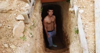 Nach einem Streit mit seinen Eltern gräbt er im Garten eine Höhle: 6 Jahre später ist sie sein unterirdisches Zuhause