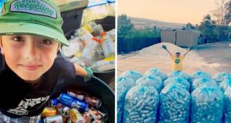 A los 11 años ya ha reciclado 1 millón de latas y botellas de plástico: quiere hacer del planeta un lugar mejor