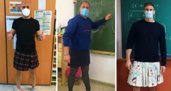Un élève expulsé de l'école pour avoir porté une jupe : les enseignants s'habillent comme lui en signe de protestation