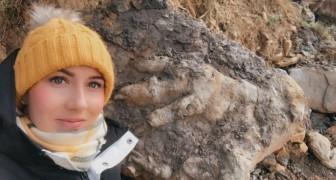 Frau geht auf die Suche nach Krustentieren und entdeckt größten Dinosaurier-Fußabdruck aller Zeiten