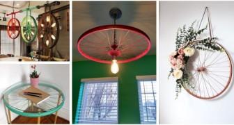Ricava splendide decorazioni per la casa e il giardino riciclando ruote di biciclette e carri