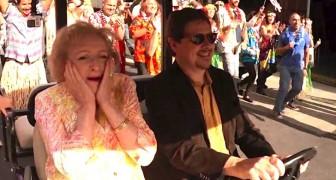 Vejam a reação desta senhora no seu aniversário surpresa de 93 anos!