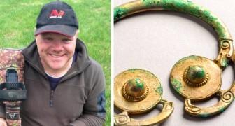 Hij gaat op pad met de metaaldetector en keert als miljonair terug naar huis: hij heeft een onschatbare Vikingschat gevonden