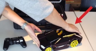 At first it just seems a remote control car, but seconds later...WOW !