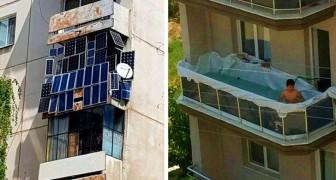 15 balkons die zo ongewoon zijn dat ze de mensen die ze hebben geobserveerd in verwarring brengen