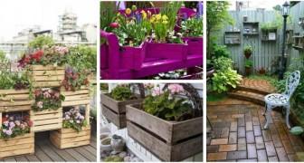 Cassette di legno in giardino? Riciclale e trasformale in splendide fioriere e decorazioni