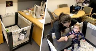 Professor stellt eine Wiege in sein Büro, damit eine frischgebackene Mutter weiterhin ihre Kurse besuchen kann
