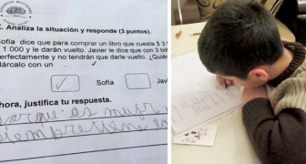 Women are always right: a child's answer to the math test assigned by the school