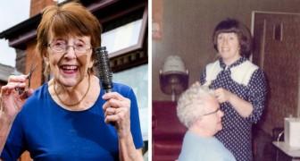 Esta cabeleireira de 91 anos ainda corta os cabelos de suas clientes e ela não tem planos de se aposentar