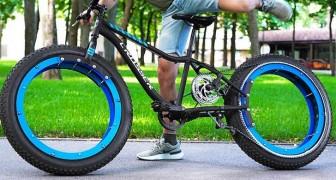 Niente mozzi e niente raggi: ragazzo modifica la bici e la trasforma in un mezzo dall'aspetto futuristico