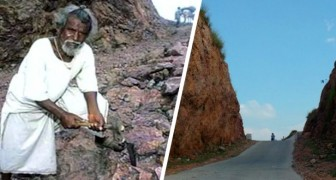 This man divided a mountain for love: he dug through the rock for 22 years, creating a road to his village