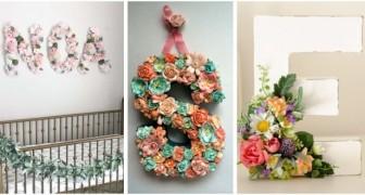 Lettere fiorite per arredare la casa: lasciati ispirare da queste idee romantiche e creative
