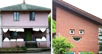 16 menschenähnliche Häuser, die uns mit den skurrilsten Ausdrücken anzuschauen scheinen