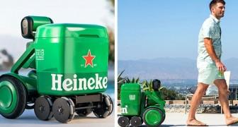Heineken stellt einen intelligenten Roboter vor, der Ihnen folgt und Ihnen frisches Bier bringt