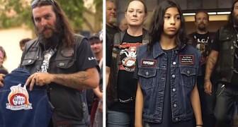 Un gruppo di motociclisti si impegna a supportare i bambini vittime di violenza, accompagnandoli in tribunale