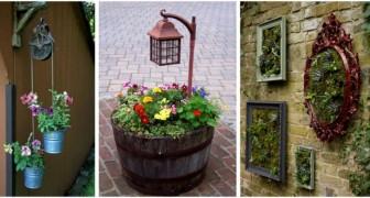 Envie de fleurs partout dans votre jardin ou votre balcon ? Utilisez ces jardinières originales DIY