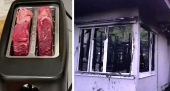Er steckt das Steak in den Toaster und geht Pommes kaufen: Als er zurückkommt, ist das Haus abgebrannt