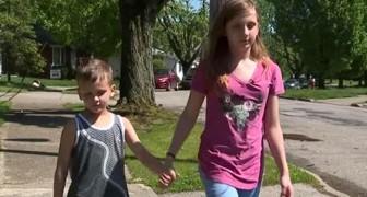 Uma menina de 11 anos salva seu irmão de 6 de um estranho que queria sequestrá-lo enquanto eles estavam brincando