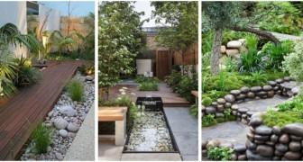 Rendi più interessante il giardino sfruttando le rocce per il design di tanti spazi diversi