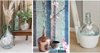 Dame-jeanne en verre : ajoutez-la à l'ameublement de la maison et embellissez-la de détails simples et élégants