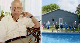Viúvo de 94 anos constrói piscina no quintal para todas as crianças da região: ele não queria se sentir sozinho