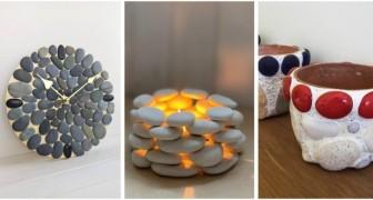 Galets et cailloux pour décorer : toutes les idées pour créer de fantastiques objets