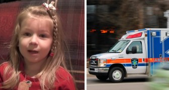Questa bimba di 5 anni ha chiamato un'ambulanza per salvare suo padre, mantenendo una calma invidiabile