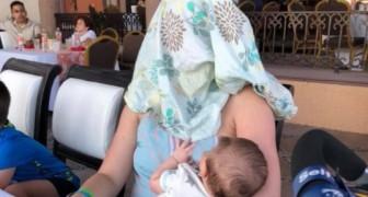 Allatta il suo bambino in un ristorante ma le dicono di coprirsi: la sua risposta è esemplare