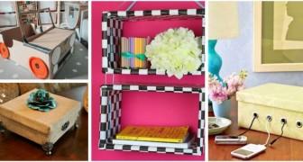 Submergés par les boîtes et les cartons ? Recyclez-les avec créativité et créez de fantastiques objets