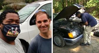 Arregla autos viejos y los regala a quien tiene necesidad: Sin un auto, es difícil encontrar un buen trabajo
