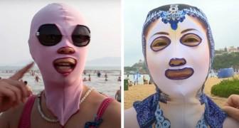 Facekini: das Gesichts-Kostüm, das chinesische Frauen tragen, um nicht braun zu werden