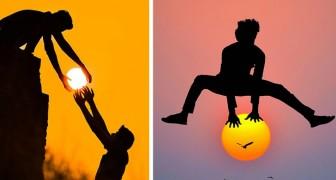 Questo artista gioca col sole al tramonto: 13 foto dal fascino surreale e romantico