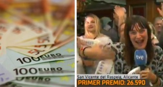 He announces on live TV that he has won the lottery and wants to quit his job, but then discovers that the jackpot is only €5,000