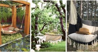 Appendi una comoda amaca in giardino per godere in tutto relax del tuo spazio verde