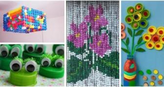 Conservez les bouchons plastique colorés : vous pouvez les transformer en de nombreux travaux créatifs