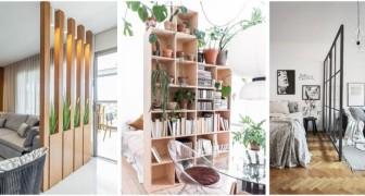 Separa gli spazi in casa con soluzioni piene di stile usando divisori creativi