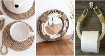 Usa la corda in modo creativo per decorare la casa con tanti accessori diversi