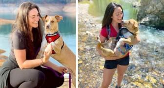 Elle sillonne les États-Unis avec sa voiture et le chien qu'elle a sauvé de la rue : ils sont inséparables