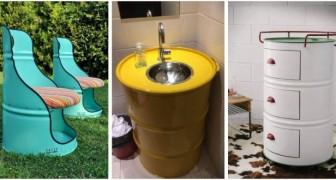 Bidoni in metallo: trasformali in mobili super creativi per la casa e il giardino