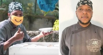 A homeless man opens a restaurant with the money he earned as a delivery guy and offers food to the needy